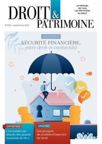 Droit et Patrimoine, 316, 01-09-2021
