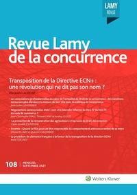 Revue Lamy de la concurrence, 108, 01-09-2021