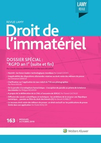 Revue Lamy Droit de l'Immatériel, 163, 01-10-2019