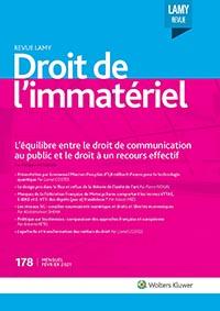 Revue Lamy Droit de l'Immatériel, 178, 01-02-2021